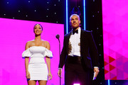 (L-R) Draya Michele and Chris Appleton speak onstage during the 2nd Annual American Influencer Awards at Dolby Theatre on November 18, 2019 in Hollywood, California.