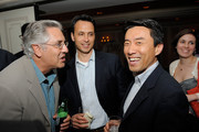 Albie Hecht, CEO of Worldwide Biggies, Jimmy Pitaro, Vice President of Media at Yahoo and David Eun, President of AOL Media and Sudios and the Hollywood Reporter Top Digital Power Player of 2010 at the 2nd Annual Digital Power 50 cocktail reception at The Waldorf Astoria on June 7, 2010 in New York City.