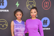 Halle Bailey and Chloe Bailey of Chloe X Halle attends the 2nd Annual Freeform Summit at Goya Studios on March 27, 2019 in Los Angeles, California.