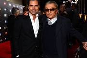 Actor John Stamos (L) and producer Robert Evans attend the 2nd Annual 'Rebels With A Cause' Gala held at Paramount Studios on March 20, 2014 in Hollywood, California.