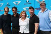 (L-R) Actors Scott Bakula and Joe Mantegna, actress and SAG Foundation president JoBeth Williams, Integrated Wealth Management president and CEO James M. Casey and actor Kevin Nealon attend the 2nd Annual SAG Foundation Golf Classic at El Caballero Country Club on June 13, 2011 in Tarzana, California.