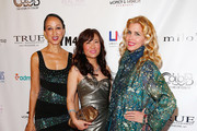 (L-R) Pat Cleveland, Jeanine Jeo-Hi Kim and Debbie Dickinson attend the 2nd Annual Women & Fashion FilmFest Red Carpet Opening at Gold Bar on June 3, 2014 in New York City.