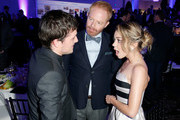 (L-R) Actor Josh Hutcherson, actor Jesse Tyler Ferguson and actress Sarah Hyland attends the 2nd Annual unite4:humanity presented by ALCATEL ONETOUCH at the Beverly Hilton Hotel on February 19, 2015 in Los Angeles, California.