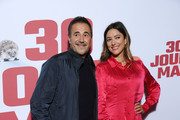 """Jose Garcia and Vanessa Guide attend the """"30 Jours Max"""" premiere At UGC Bercy  on October 07, 2020 in Paris, France."""