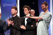 (L-R) Bobby Berk, Antoni Porowski, and Jonathan Van Ness accept the Outstanding Reality Program for 'Queer Eye' onstage during the 30th Annual GLAAD Media Awards Los Angeles at The Beverly Hilton Hotel on March 28, 2019 in Beverly Hills, California.