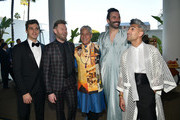 (L-R) Antoni Porowski, Bobby Berk, Greg Louganis, Jonathan Van Ness, and Tan France attend the 30th Annual GLAAD Media Awards Los Angeles at The Beverly Hilton Hotel on March 28, 2019 in Beverly Hills, California.