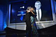 Sarah Jessica Parker presents an award to Andy Cohen during the 30th Annual GLAAD Media Awards New York at New York Hilton Midtown on May 04, 2019 in New York City.