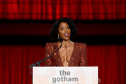 Renee Elise Goldsberry speaks during the 30th Annual IFP Gotham Awards at Cipriani Wall Street on January 11, 2021 in New York City.