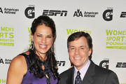 Softball player Jessica Mendoza (L) and sportscaster Bob Costas attend the 30th Annual Salute To Women In Sports Awards at The Waldorf=Astoria on October 13, 2009 in New York City.