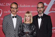 (L-R) Viktor Horsting, Carol Hamilton and Rolf Snoeren pose with award during the 31st Annual FGI Night of Stars event at Cipriani Wall Street on October 23, 2014 in New York City.