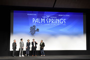 """Actors Billy Crystal, Ben Schwartz and Eloise Mumford, director Matt Ratner and lead programmer at the Palm Springs International Film Festival David Ansen speak after a screening of Ã'Standing Up, Falling Down"""" at the 31st Annual Palm Springs International Film Festival on January 6, 2020 in Palm Springs, California."""