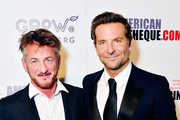Sean Penn and Bradley Cooper attend the 32nd American Cinematheque Award Presentation Honoring Bradley Cooper Presented by GRoW @ Annenberg. Presentation and The 4th Annual Sid Grauman Award Presented By Hill Valley, To Doug Darrow on behalf of Dolby Laboratories at The Beverly Hilton Hotel on November 29, 2018 in Beverly Hills, California.