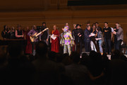 Angelique Kidjo (C)  leads the finale performance on stage during 32nd Annual Tibet House US Benefit Concert & Gala at Carnegie Hall on February 07, 2019 in New York City.