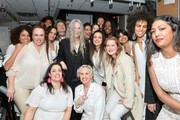 Patti Smith (C) poses with the Resistance Revival Chorus backstage during the 33nd Annual Tibet House US Benefit Concert & Gala on February 26, 2020 in New York City.