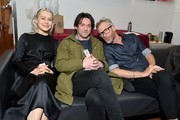 Phoebe Bridgers, Conor Oberst and Matt Berninger pose backstage during the 33nd Annual Tibet House US Benefit Concert & Gala on February 26, 2020 in New York City.
