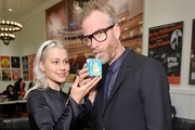 Phoebe Bridgers and Matt Berninger pose backstage during the 33nd Annual Tibet House US Benefit Concert & Gala on February 26, 2020 in New York City.