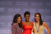 Nilou Motamed, Tamron Hall, Christina Grdovic attend the Classic Cook Off at the 34th Annual Food &  Wine Classic In Aspen - Day 4 on June 19, 2016 in Aspen, Colorado.