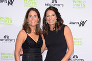 Soccer player Julie Foudy and softbal player Jessica Mendoza attend the WomenÂ's Sports FoundationÂ's 35th Annual Salute to Women In Sports awards, a celebration and a fundraiser to ensure more girls and women have access to sports, at Cipriani Wall Street on October 15, 2014 in New York City.