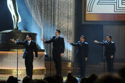 (L-R) Actors Travis Cloer, Peter Saide, Deven May and Jeff Leibow perform onstage at the 37th Annual Daytime Entertainment Emmy Awards held at the Las Vegas Hilton on June 27, 2010 in Las Vegas, Nevada.