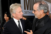 Actor Michael Douglas (L) and AFI Vice-Chairman Producer Jon Avnet arrive at the 38th AFI Life Achievement Award honoring Mike Nichols held at Sony Pictures Studios on June 10, 2010 in Culver City, California. The AFI Life Achievement Award tribute to Mike Nichols will premiere on TV Land on Saturday, June 25 at 9PM ET/PST.