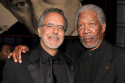 AFI Vice-Chairman Producer Jon Avnet (L) and actor Morgan Freeman pose in the audience during the 38th AFI Life Achievement Award honoring Mike Nichols held at Sony Pictures Studios on June 10, 2010 in Culver City, California. The AFI Life Achievement Award tribute to Mike Nichols will premiere on TV Land on Saturday, June 25 at 9PM ET/PST.