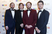Nathan Followill, Matthew Followill, Caleb Followill and Jared Followill of Kings of Leon arrive at the 39th Annual Kennedy Center Honors at The Kennedy Center on December 4, 2016 in Washington, DC.