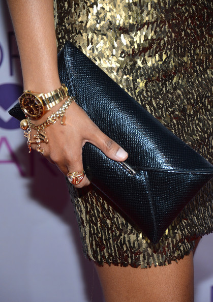 Actress Tempest Bledsoe (fashion detail) attends the 39th Annual People's Choice Awards at Nokia Theatre L.A. Live on January 9, 2013 in Los Angeles, California.