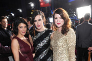 (L-R) Actors Genevieve Padalecki, Rumer Willis and Danneel Harris attend the 34th Annual People's Choice Awards at Nokia Theatre L.A. Live on January 9, 2013 in Los Angeles, California.