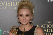 Actress Hunter King winner of Outstanding Younger Actress in a Drama Series for 'The Young and the Restless'  poses in the press room during The 41st Annual Daytime Emmy Awards at The Beverly Hilton Hotel on June 22, 2014 in Beverly Hills, California.