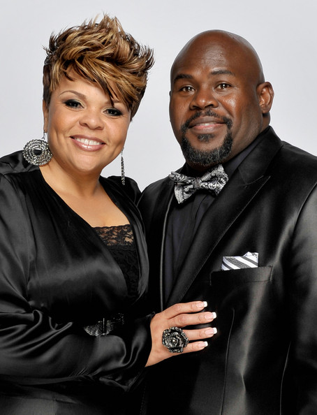 Tamela Mann Singer Tamela Mann and husband David Mann pose for a