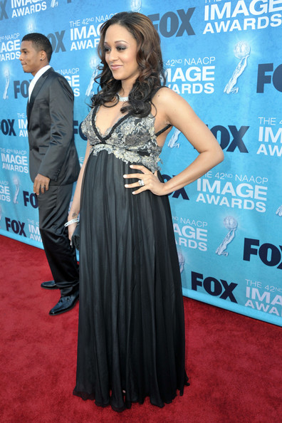 Actress Tia Mowry arrives at the 42nd NAACP Image Awards held at The Shrine Auditorium on March 4, 2011 in Los Angeles, California.