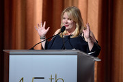 Julie Plec speaks onstage at The 45th Annual HUMANITAS Prize at The Beverly Hilton Hotel on January 24, 2020 in Beverly Hills, California.