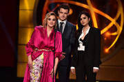 Hunter King , Michael Mealor and Sasha Calle speak onstage during the 46th annual Daytime Creative Arts Emmy Awards at Pasadena Civic Center on May 03, 2019 in Pasadena, California.