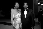image has been shot in black and white.) Jennifer Hudson (L) and Denzel Washington attend the 47th AFI Life Achievement Award honoring Denzel Washington at Dolby Theatre on June 06, 2019 in Hollywood, California. (Photo by Charley Gallay/Getty Images for WarnerMedia) 610288