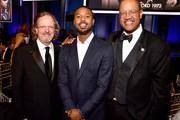 (L-R) CEO of AFI Bob Gazzale, Michael B. Jordan, and guest attend the 47th AFI Life Achievement Award honoring Denzel Washington at Dolby Theatre on June 06, 2019 in Hollywood, California. (Photo by Matt Winkelmeyer/Getty Images for WarnerMedia) 610484