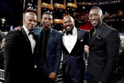 (L-R) Jamie Foxx, Chadwick Boseman, Antoine Fuqua, and Mahershala Ali attend the 47th AFI Life Achievement Award honoring Denzel Washington at Dolby Theatre on June 06, 2019 in Hollywood, California. (Photo by Erik Voake/Getty Images for WarnerMedia) 610530