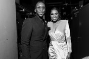 Image has been shot in black and white. Color version not available.) Mahershala Ali and Jennifer Hudson attend the 47th AFI Life Achievement Award honoring Denzel Washington at Dolby Theatre on June 06, 2019 in Hollywood, California. (Photo by Charley Gallay/Getty Images for WarnerMedia) 610288