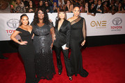 (L-R) Adrienne Houghton, Loni Love, Jeannie Mai and Tamera Mowry attend the 49th NAACP Image Awards at Pasadena Civic Auditorium on January 15, 2018 in Pasadena, California.