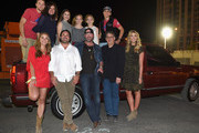 (Top row, L-R) Boston Gilbert, Ginger Gilbert Ravella, Bella Gilbert Ravella, Annalise Gilbert Ravella, Aspen Gilbert Ravella, and Greyson Ravella; (Bottom row, L-R) Sarah White, ACM board member Enzo DeVincenzo, singer Lee Brice, Academy of Country Music CEO Bob Romeo, and Rachel Ventura attend the 4th ACM Party for a Cause Festival at the Las Vegas Festival Grounds on April 2, 2016 in Las Vegas, Nevada.