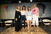 (L-R) Geena Davis, Stephanie Beatriz, Natalie Morales, and Alysia Reiner attend 'The Time is Now' panel at the 4th Annual Bentonville Film Festival - Day 5 on May 5, 2018 in Bentonville, Arkansas.