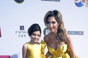 Sophia Laurent Abraham and Farrah Abraham attend the 4th annual Roger Neal Oscar Viewing Dinner Icon Awards and after party at Hollywood Palladium on February 24, 2019 in Los Angeles, California.