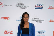Laila Ali attends the 4th Annual Sports Humanitarian Awards at The Novo by Microsoft on July 17, 2018 in Los Angeles, California.