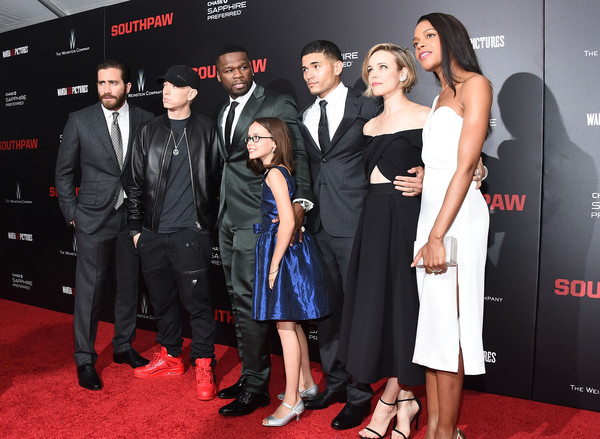 50 Cent and Oona Laurence Photos Photos - 'Southpaw' New