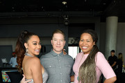 (L-R) La La Anthony, Joseph Sikora, and Courtney Kemp Agboh pose after the 50 Cent Walk Of Fame Ceremony on January 30, 2020 in Hollywood, California.