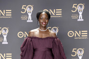 Lupita Nyong'o, winner of Outstanding Motion Picture and Outstanding Ensemble Cast in a Motion Picture for 'Black Panther', attends the 50th NAACP Image Awards at Dolby Theatre on March 30, 2019 in Hollywood, California.