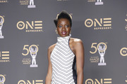Danai Gurira, winner of Outstanding Motion Picture and Outstanding Ensemble Cast in a Motion Picture for 'Black Panther', attends the 50th NAACP Image Awards at Dolby Theatre on March 30, 2019 in Hollywood, California.