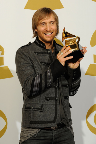 Producer David Guetta poses in the press room during the 52nd Annual GRAMMY Awards held at Staples Center on January 31, 2010 in Los Angeles, California.