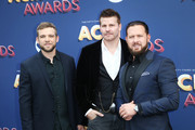 (L-R) Max Thieriot, David Boreanaz, and A. J. Buckley attend the 53rd Academy of Country Music Awards at MGM Grand Garden Arena on April 15, 2018 in Las Vegas, Nevada