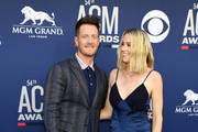 Tyler Hubbard of Florida Georgia Line and Hayley Hubbard attend the 54th Academy Of Country Music Awards at MGM Grand Hotel & Casino on April 07, 2019 in Las Vegas, Nevada.