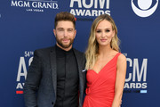(L-R) Chris Lane and Carly Pearce attend the 54th Academy Of Country Music Awards at MGM Grand Hotel & Casino on April 07, 2019 in Las Vegas, Nevada.